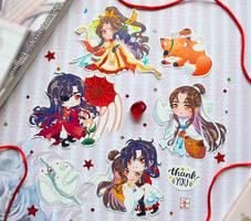 HuaLian Heaven Officials Blessing Sticker Set