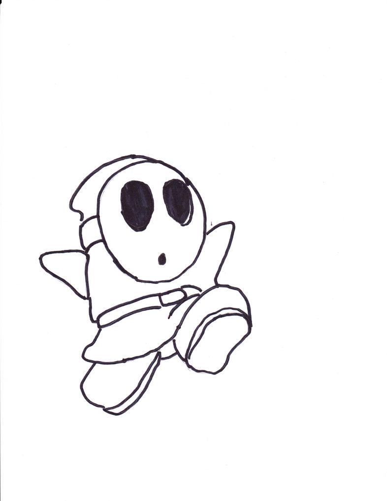 Shy guy by steamfan1992 on deviantart for Shy guy coloring pages