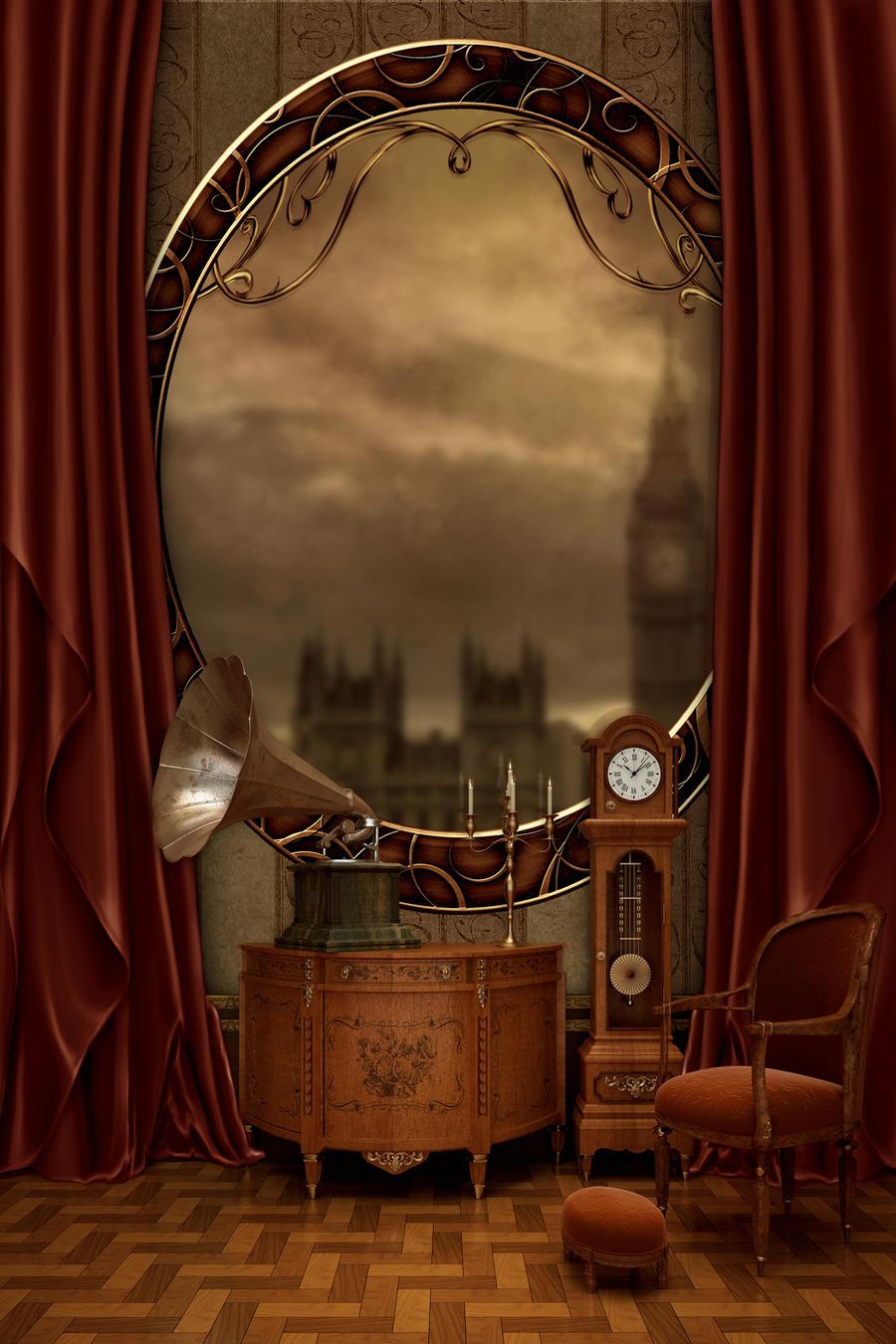 Premade -steampunk- background