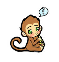 Momo the Monkey by BlackRozePetal