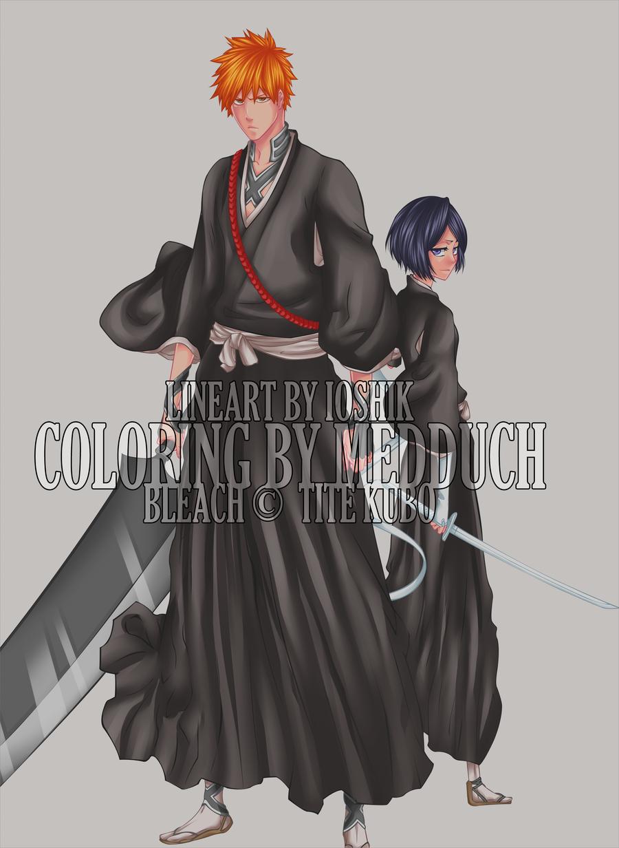 Ichigo and Rukia by Tsuuyo