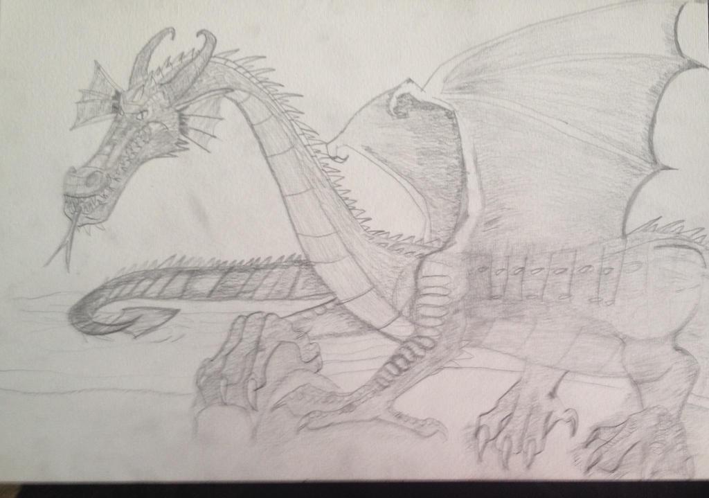 European Dragon Approaches by Dragonfire810