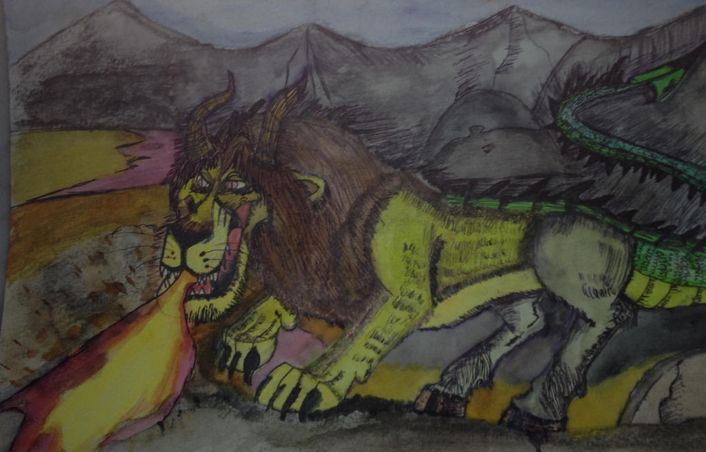 The Chimera's rampage by Dragonfire810
