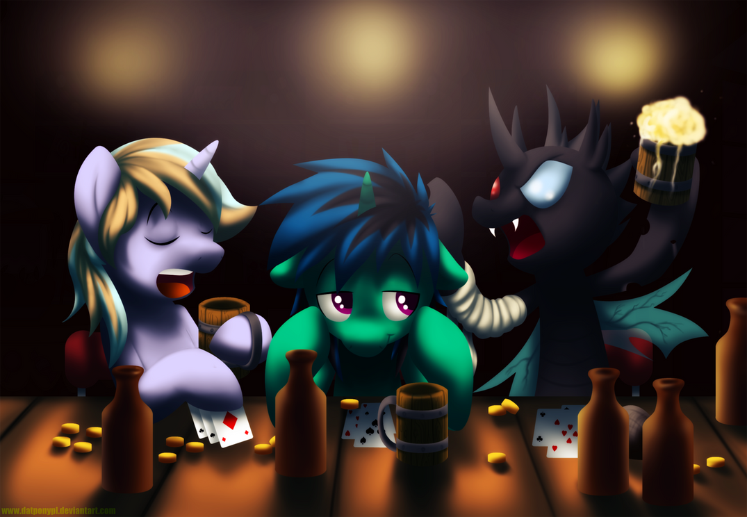 COM - Friday Night, Beer and Cards by DatPonyPL