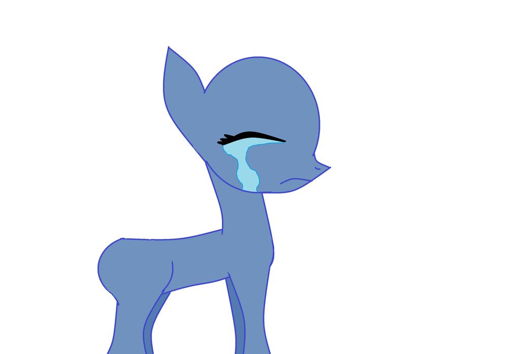 Line Art Earth : Mlp earth pony crying base by tdmfan on deviantart