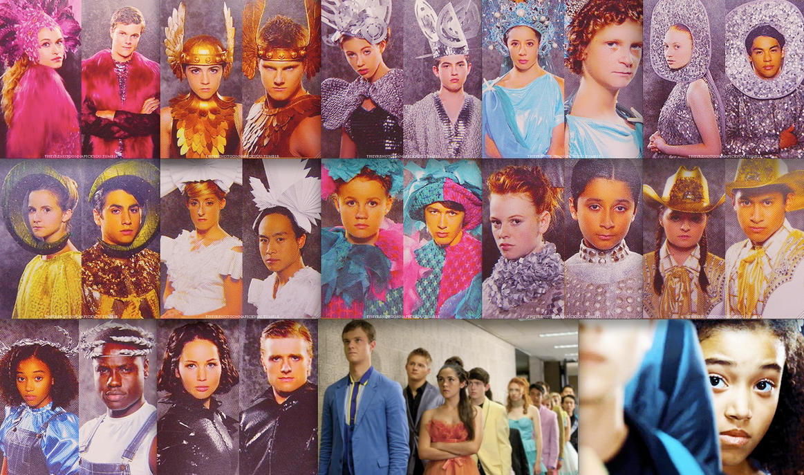The Hunger Games Tributes Wallpaper by BoyWithAntlers