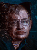 Stephen Hawking By Sasha Paarseh by sashapaarseh