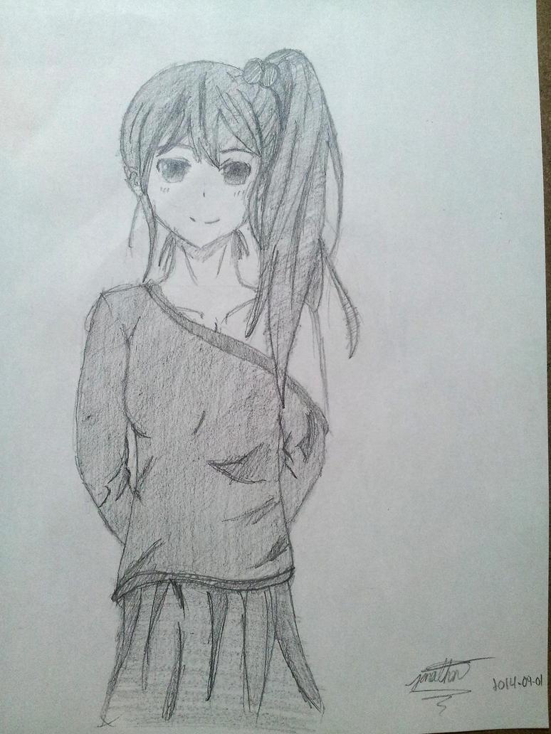 Random girl quick sketch by Johnorizabal