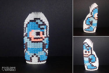 Pixelgami Ventures: Mega Man by CommodoreZeke