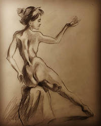 figure drawing 30mins practice