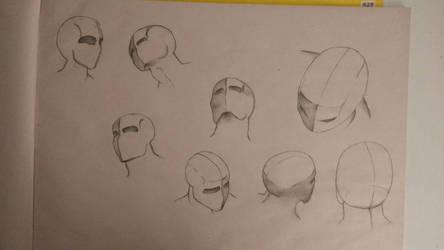 practice figure drawing  the head creative sketch
