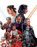 Star Wars - Sequel Trilogy Drawing