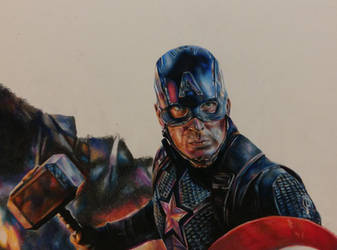 Captain America process photo