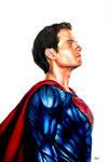 Superman Colour Pencil Drawing