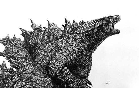 Godzilla Pencil Drawing