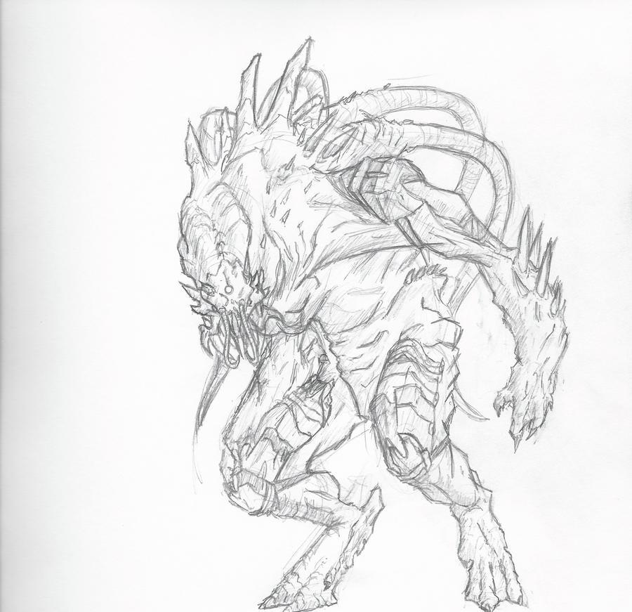 Alien Drawing By Raikonai On DeviantArt