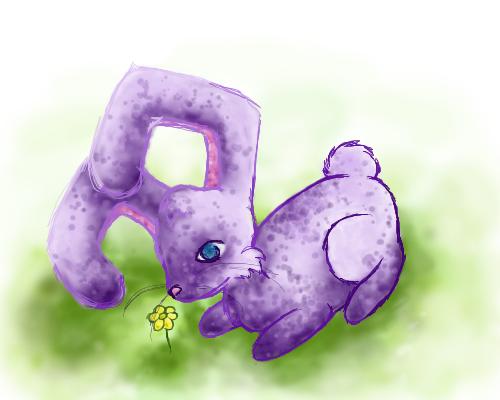 Purple Bunny by iceiwynd