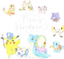 Pokemon Christmas Parade by AAurion