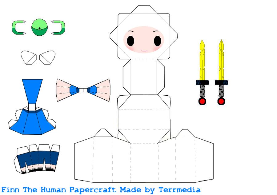 Finn Adventure Time Papercraft by terrmedia