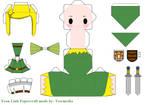 Toon link papercraft Zelda