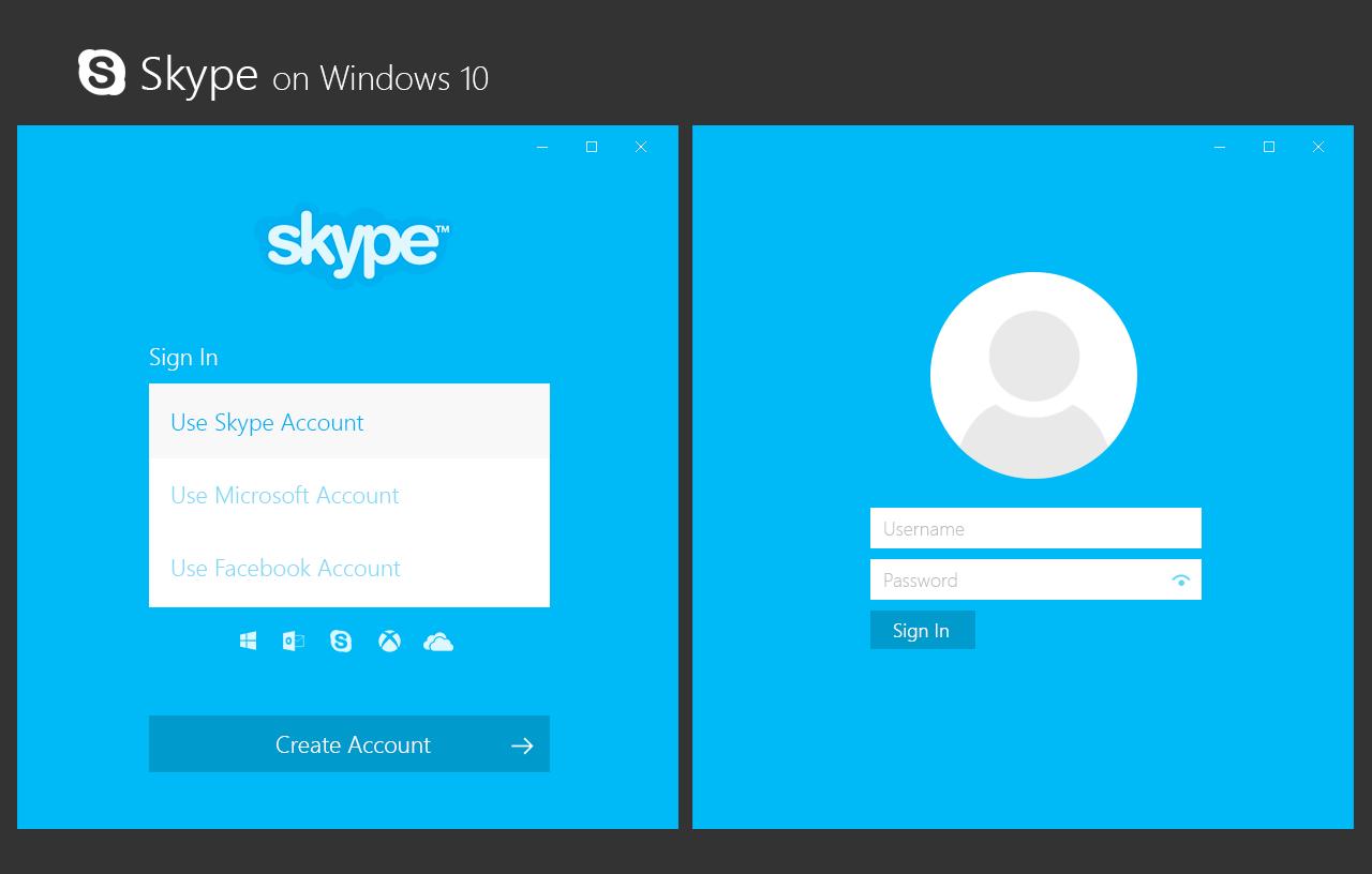 Skype login account -  Skype Login For Windows 10 Concept By Bannax1994