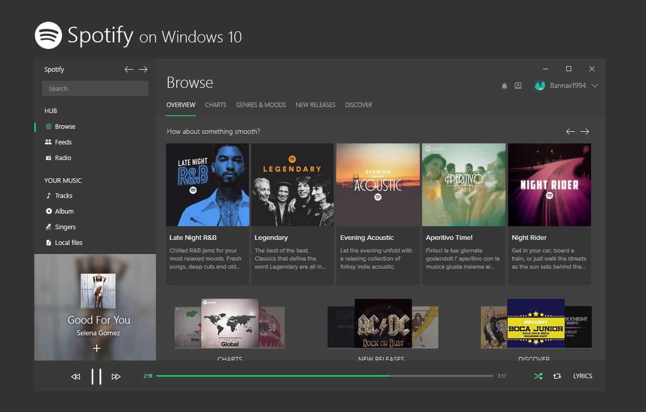 Windows 10 Spotify