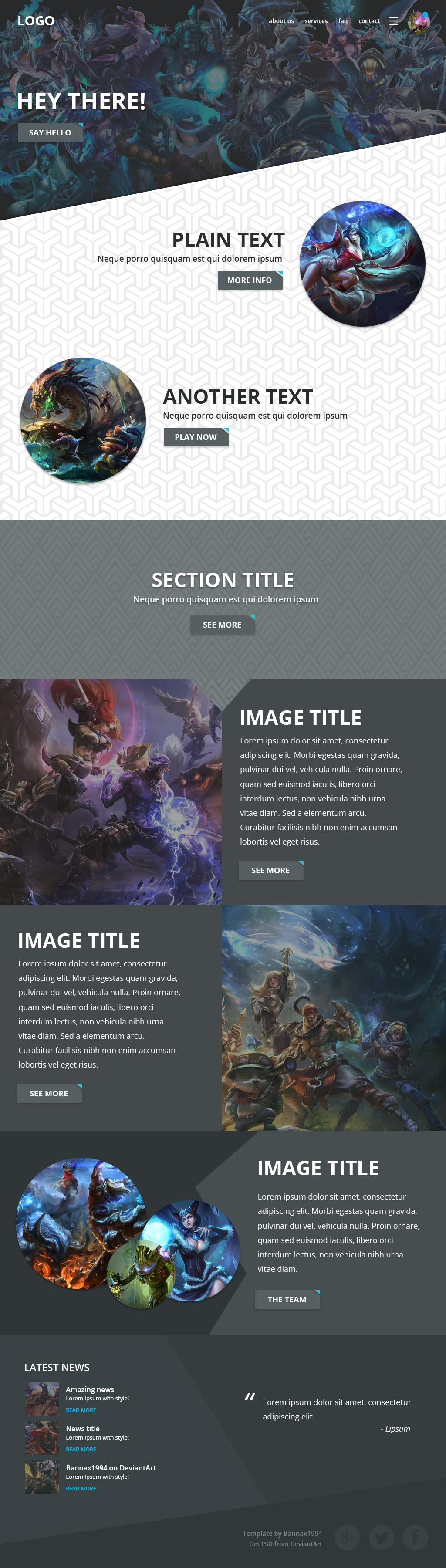 of Legends Website Template by bannax1994 on DeviantArt