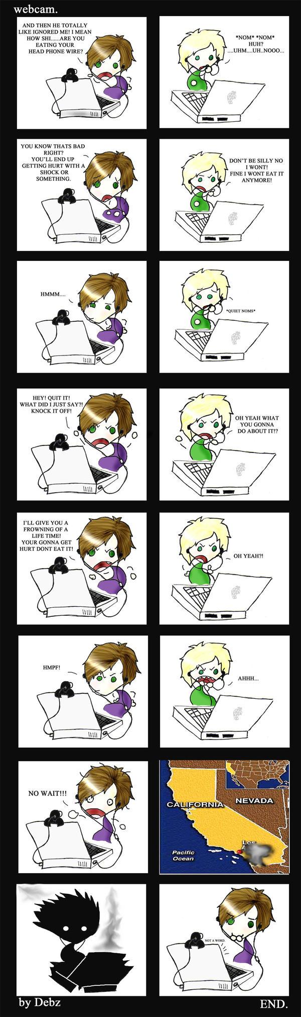 Webcam comic by nuttydragon