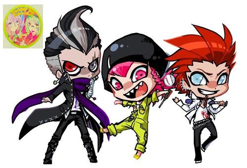 Tanaka, Kazuichi y Kuwata Render. by KuNeko-Sama