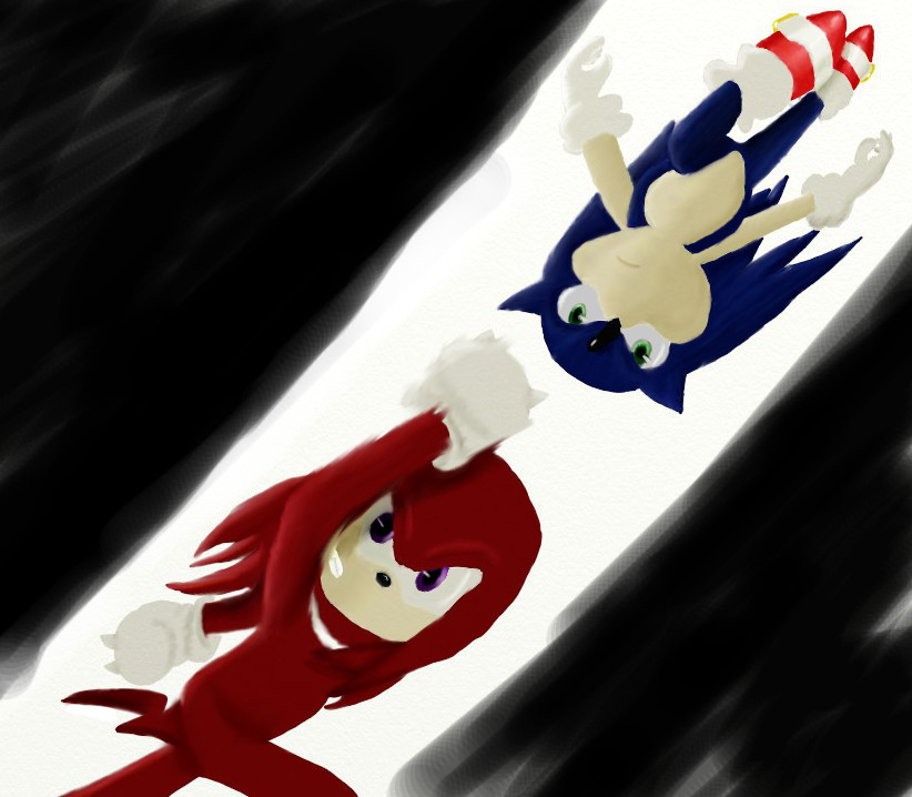 Sonic vs Knuckles (with BG) by iammemyself