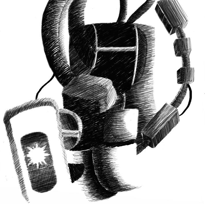 GLaDOS - Digital Ink by iammemyself