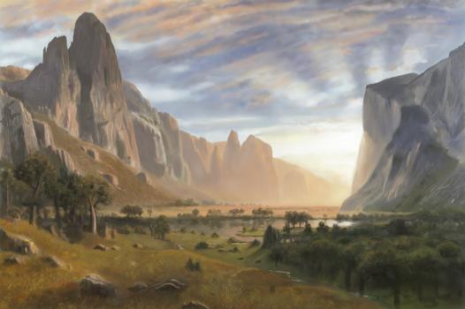 Bierstadt Yosemite Valley Study