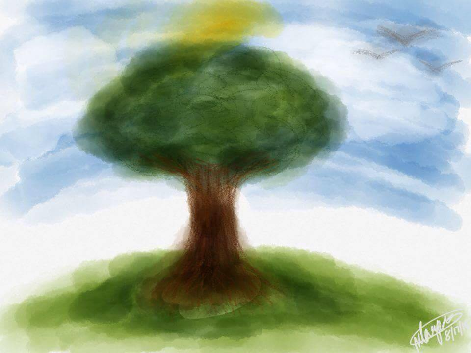 A simple tree. by FoxyandChicafan
