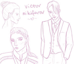 yoi: victor nikiforov sketch sheet