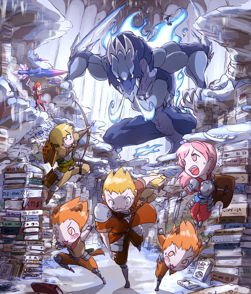 sky team     The Library by monkingjonathan