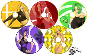 Fruit Show Girl CD pack by monkingjonathan