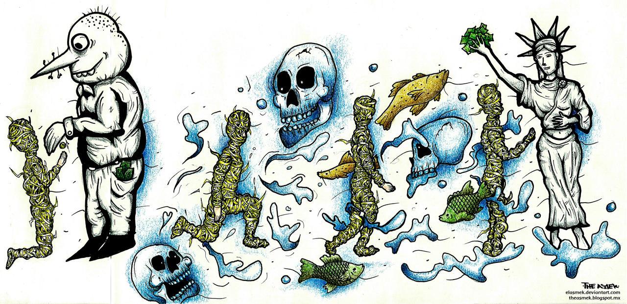 El migrante boceto final by ElAsmek