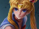 Redraw Sailor Moon by Hallibell-Yin