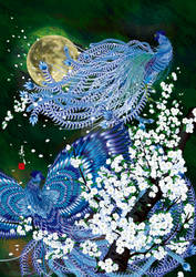 Two Blue Roosters 'WIND'