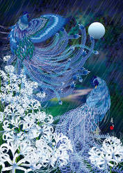 Two Blue Roosters 'RAIN'