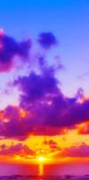 Sunset custom box background