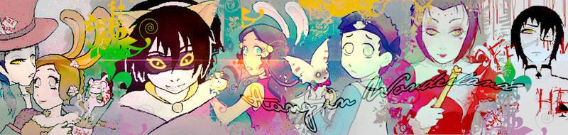 Aang in Wonderland | Banner Nov 2012 by rashel-shiru