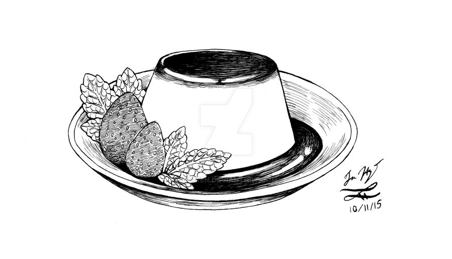 Inktober 08: Pudding! by Ou-ren
