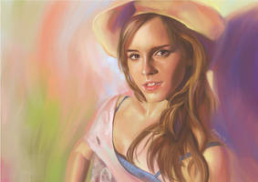 Digital Illustration 1- Emma Watson by xuanlim