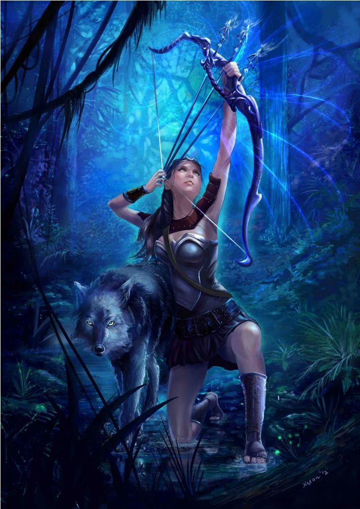 Digital Illustration 5- Artemis by xuanlim