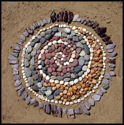 Pebble Mandala by ChaoticatCreations