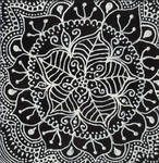 Black and white painting by ChaoticatCreations
