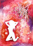 Lady in Red - PMDD art