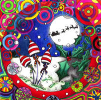 Psychedelichristmas Shrooms by ChaoticatCreations