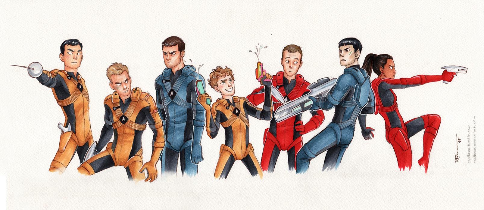 Deviantart Starfleet Captains Tylan Schan: The Crew By CaptBexx On DeviantArt